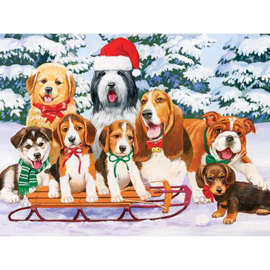 Sled Dogs 300 Large Piece Jigsaw Puzzle