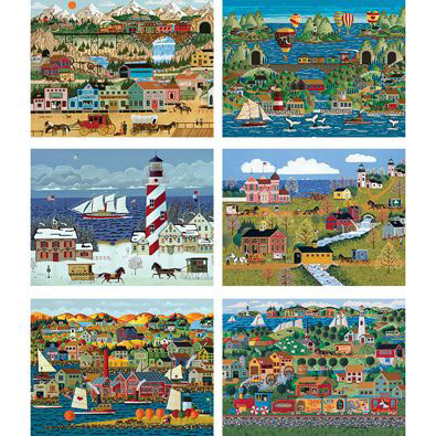 Set of 6: Anthony Kleem 1000 Piece Jigsaw Puzzles