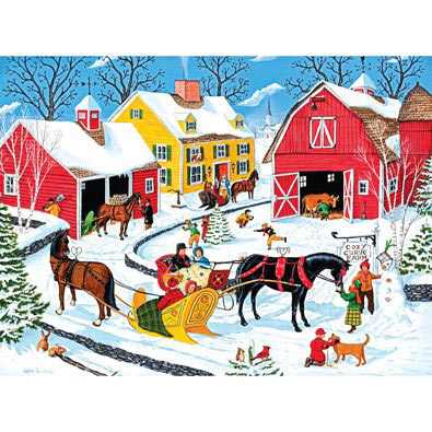 Cozy Curve Farm 1000 Piece Jigsaw Puzzle