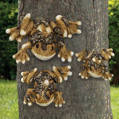 Hanging Tree Frogs Animal Garden Sculptures