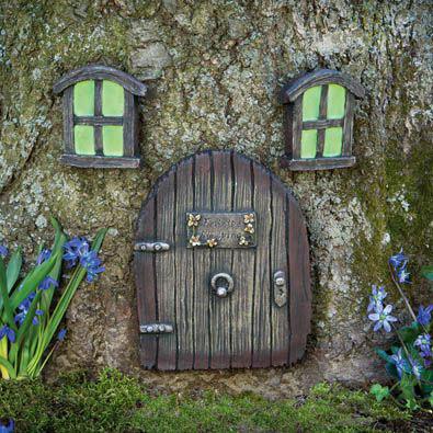 Fairy Door & Glow-in-the-Dark Windows Garden Sculptures