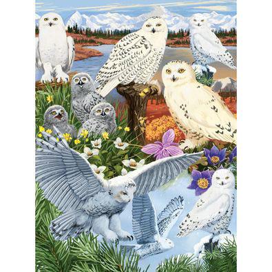 Snowy Owl Sanctuary 1000 Piece Jigsaw Puzzle