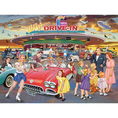 Willy's Drive-In 300 Large Piece Jigsaw Puzzle
