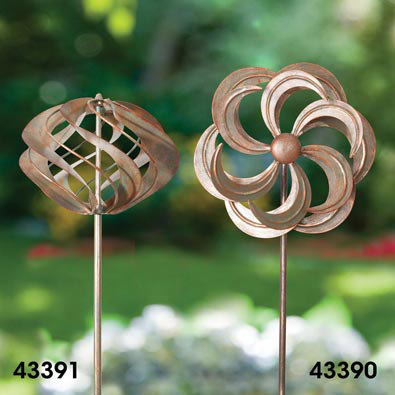 Mini Wind Spinner Garden Stakes - Flower