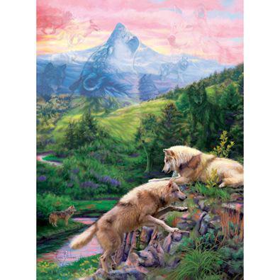 Hidden Wolves Valley 1000 Piece Jigsaw Puzzle