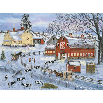 Dairy Farm Winter 300 Large Piece Jigsaw Puzzle