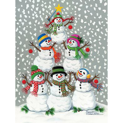 Snowmen Tree 1000 Piece Jigsaw Puzzle