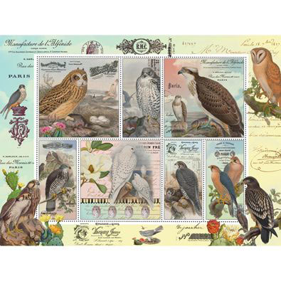 Birds Of Prey 500 Piece Stamp Jigsaw Puzzle