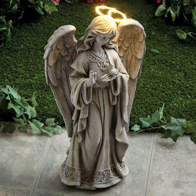 Solar Angel Of Peace Garden Sculpture