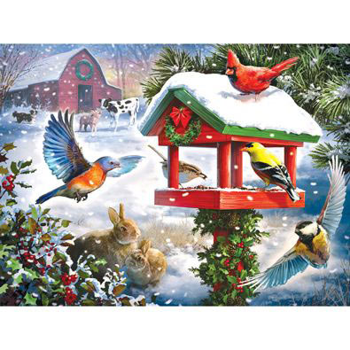 Winter Gathering 300 Large Piece Jigsaw Puzzle