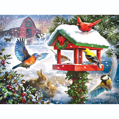 Winter Gathering 500 Piece Jigsaw Puzzle