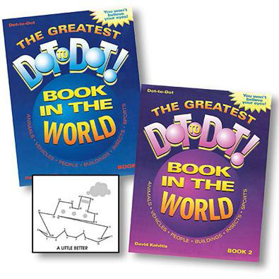 Set of 2: The Greatest Dot-To-Dot Books - Vol. 1 & 2