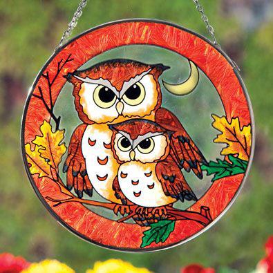Owl and Owlet Sun Catcher