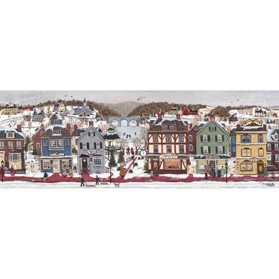 A Winter Day End 500 piece Panoramic Jigsaw Puzzle
