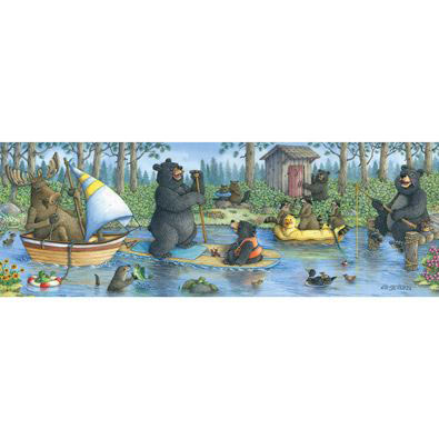 Critter Cove 500 Large Piece Panoramic Jigsaw Puzzle