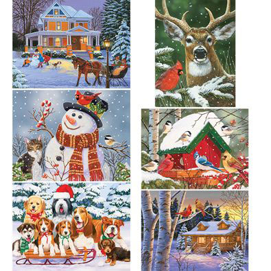 Set of 6: William Vanderdasson 500 Piece Jigsaw Puzzles