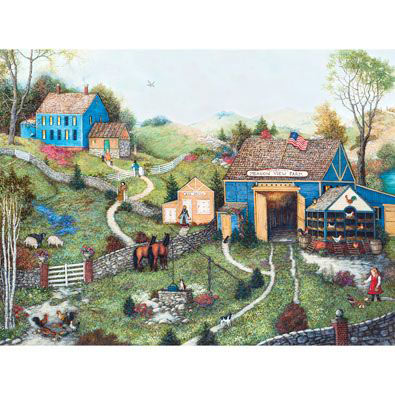 Meadow View Farm 300 Large Piece Jigsaw Puzzle