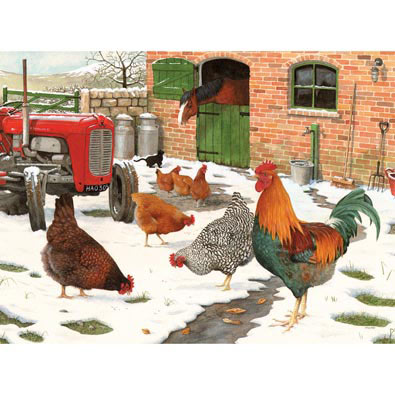 Winter Hens 500 Piece Jigsaw Puzzle