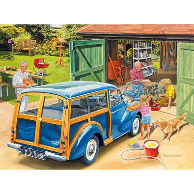 Washing Grandpa's Car 300 Large Piece Jigsaw Puzzle