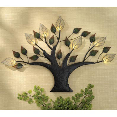 Lighted Tree of Life Wall Art