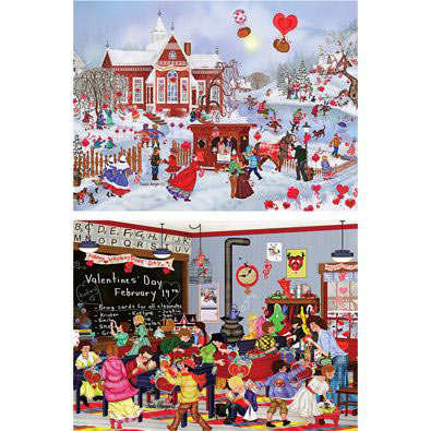 Set of 2: My Sweet Valentine 1000 Piece Jigsaw Puzzles