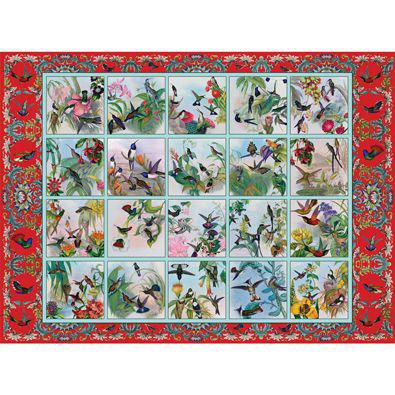 Hummingbird Garden Quilt 500 Piece Jigsaw Puzzle