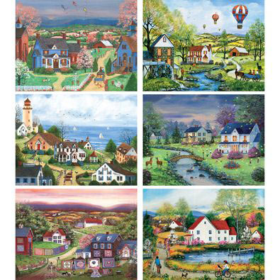 Set of 6: Mary Ann Vessey 500 Piece Jigsaw Puzzles