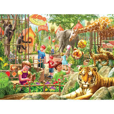 Zoo Day 300 Large Piece Jigsaw Puzzle