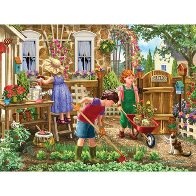 Green Thumb Club 500 Piece Jigsaw Puzzle