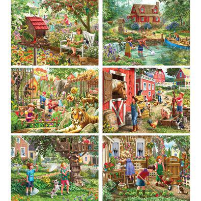 Set of 6: Liz Goodrick-Dillon 500 Piece Jigsaw Puzzles