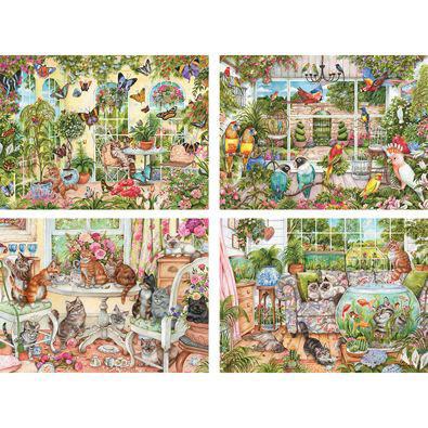 Set of 4: Debbie Cook 300 Large Piece Jigsaw Puzzles