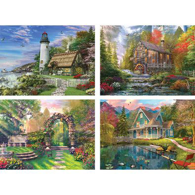 Set of 4: Dominic Davison 500 Piece Jigsaw Puzzles