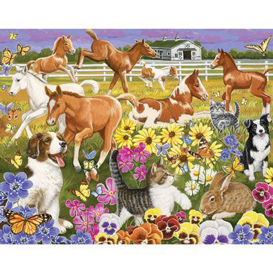 Pony Pals On The Farm 100 Large Piece Jigsaw Puzzle
