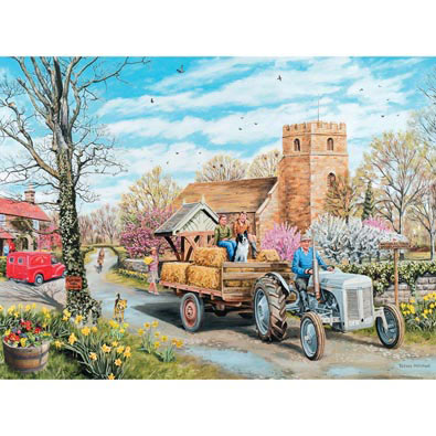 A Spring Village 1000 Piece Jigsaw Puzzle