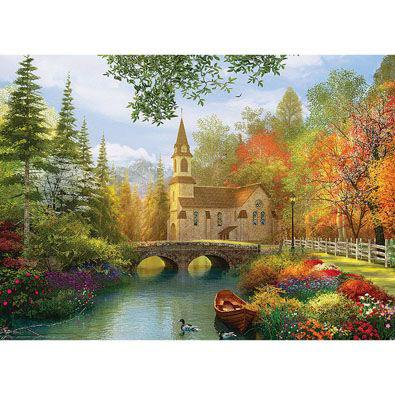 Autumn Church 1000 Piece Jigsaw Puzzle