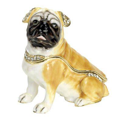 Best Friend Trinket Box: Fawn Pug