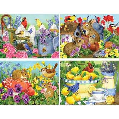 Set of 4: Jane Maday 500 Piece Jigsaw Puzzles