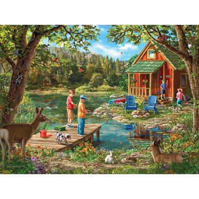 Weekend Cabin 300 Large Piece Jigsaw Puzzle