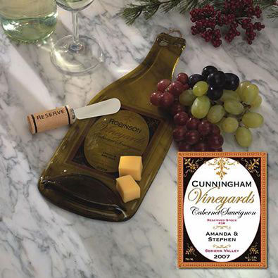 Cabernet Personalized Winery Cheese Board