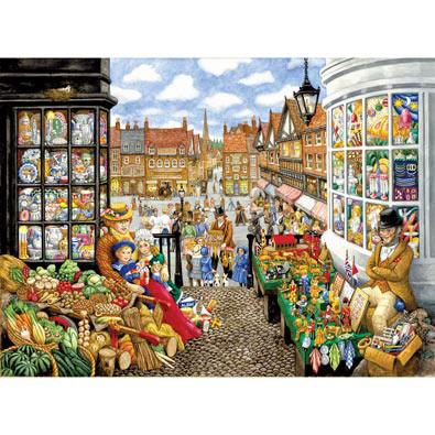 Alphabet Victorian Market 500 Piece Jigsaw Puzzle