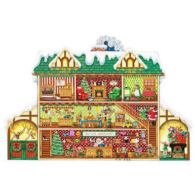 Santa's Workshop 750 Piece Shaped Jigsaw Puzzle