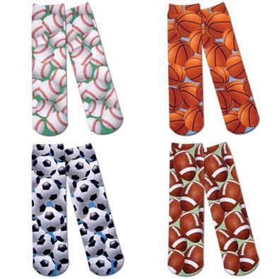 Classic Sports Printed Crew Socks