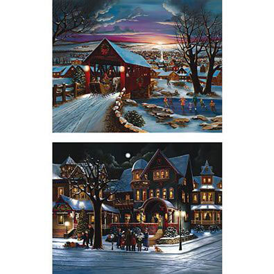 Set of 2: The Joys of Christmas 1000 Piece Jigsaw Puzzles