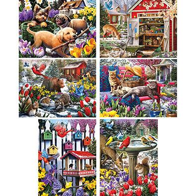 Set of 6: Larry Jones 500 Piece Jigsaw Puzzles