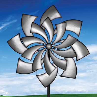 Silver Reflections Wind Spinner
