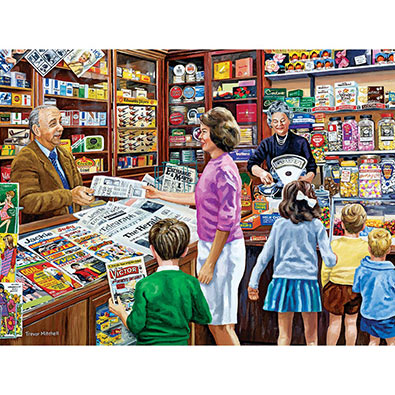 1960's News Agent's Shop 300 Large Piece Jigsaw Puzzle