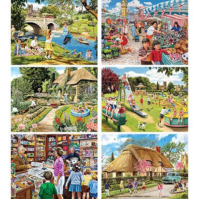 Set of 6: Trevor Mitchell 1000 Piece Jigsaw Puzzles