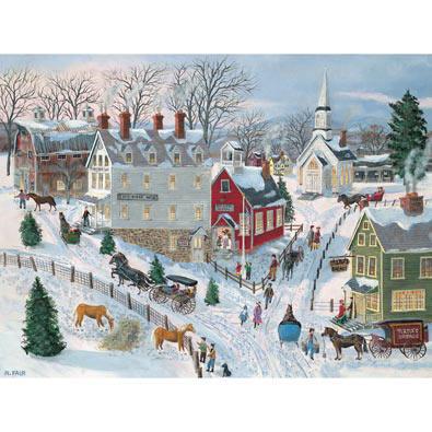 Oak Ridge In Winter 500 Piece Jigsaw Puzzle