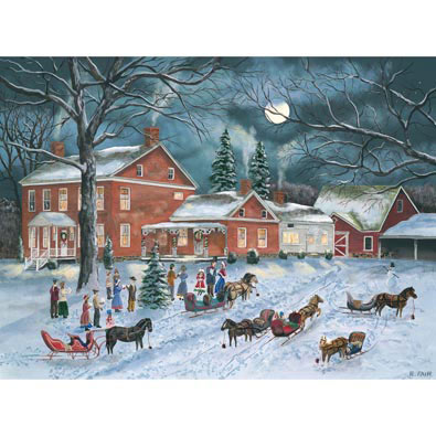 The Carolers Gather 1000 Piece Jigsaw Puzzle
