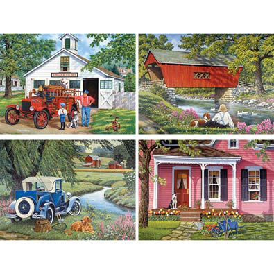 Set Of 4: John Sloane 300 Large Piece Jigsaw Puzzles